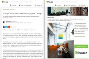 Houzz Singapore feature balcony light HDB